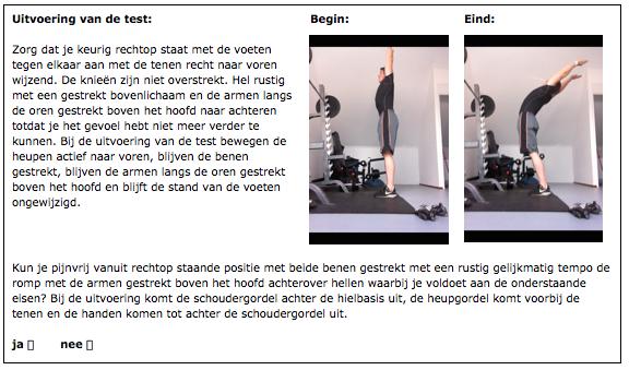 Multi segmental extension test