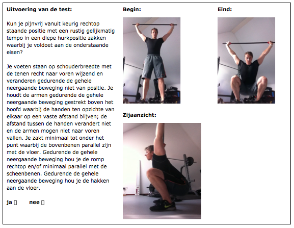 Overhead Squat test